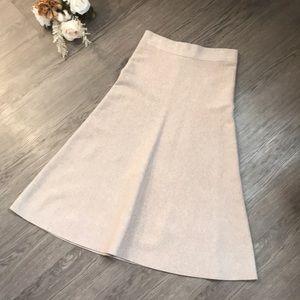 Ann Taylor long light tan skirt